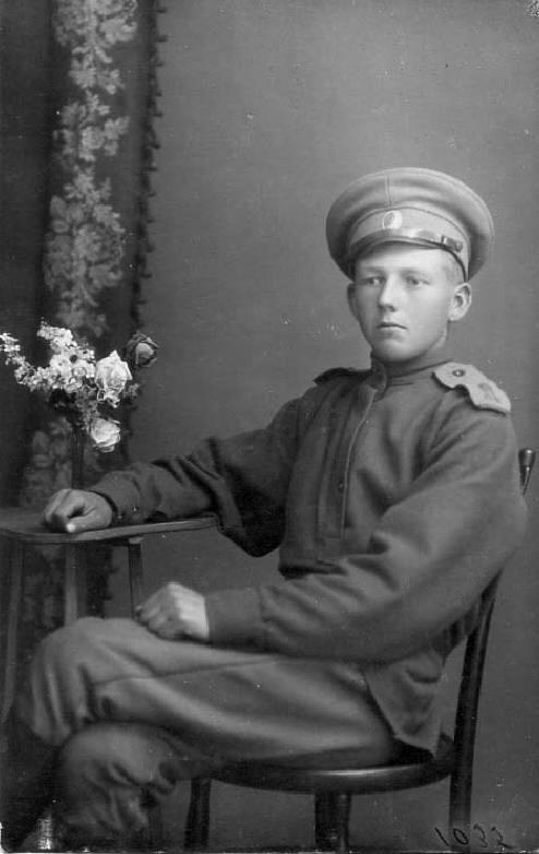This young Russian soldier is World War 1 Russian Soldiers