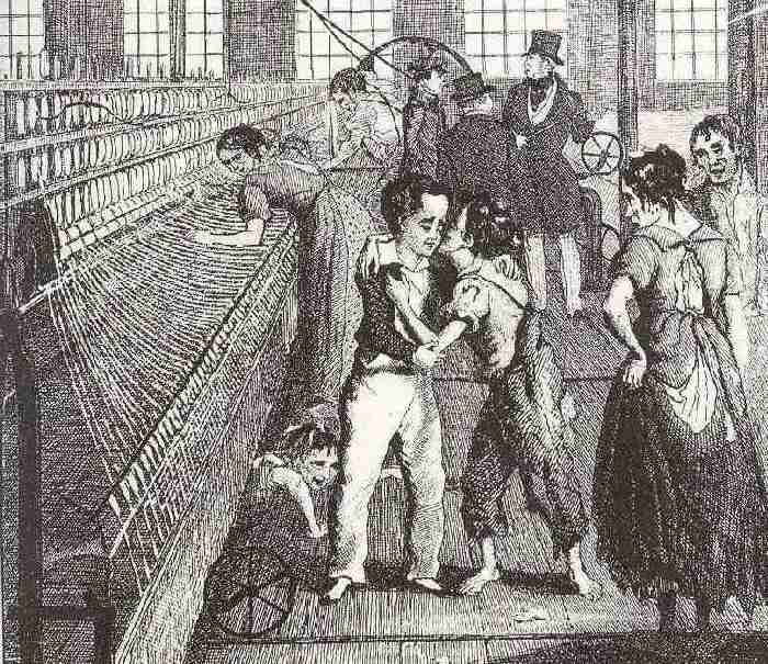war and social upheaval industrial revolution  commonly used to illustrate school text books we are not sure yet who the illustrator was it highlights the poverty of the new industrial workers