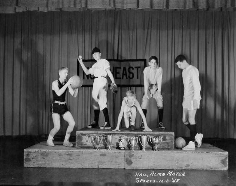 High School Boys Gym Uniforms 1970s