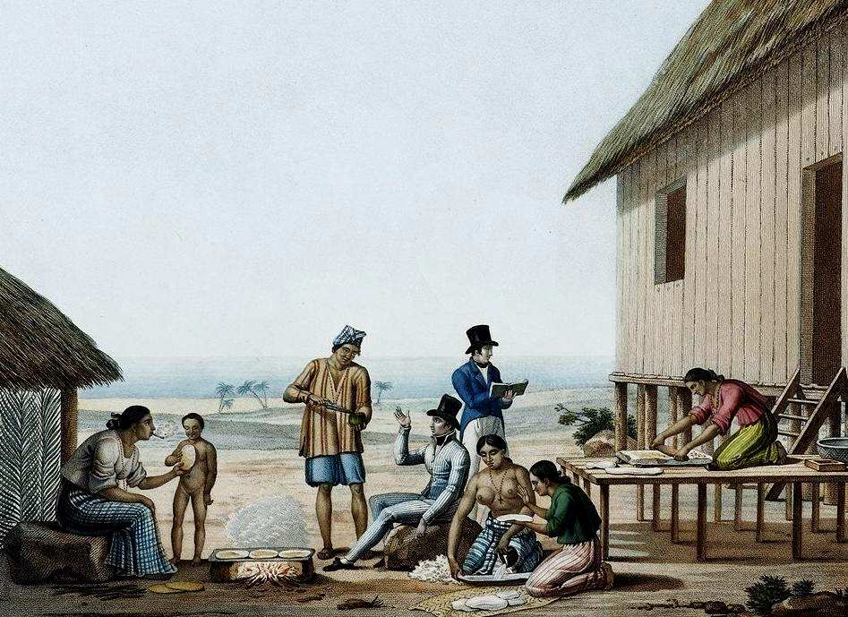 spanish colonial era Although the system did allow for natives to report abuses, the courts functioned exclusively in spanish, which essentially excluded most of the native population, at least until very late in the colonial era.