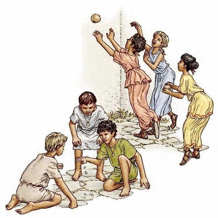 ancient civilizations -- Rome children family