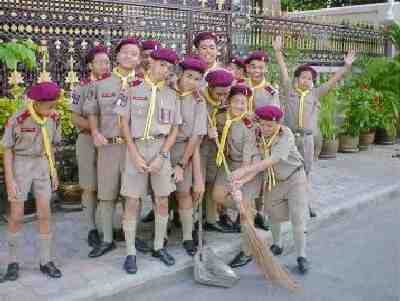 Thail boy scout uniforms